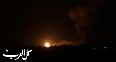 الجيش الاسرائيلي يشنّ غارات على القطاع