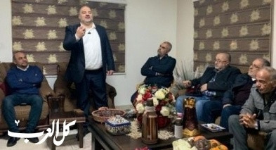 د. منصور عباس في اجتماع انتخابي في حي الرويس في سخنين