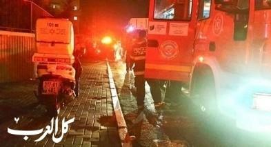 اللد: إصابات جرّاء حريق بمبنى سكني
