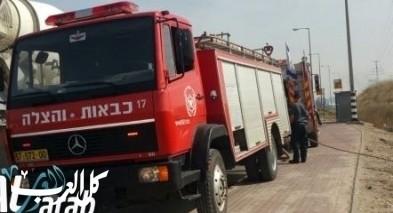 إندلاع حريق في مبنى بمشفى تل هشومير دون إصابات