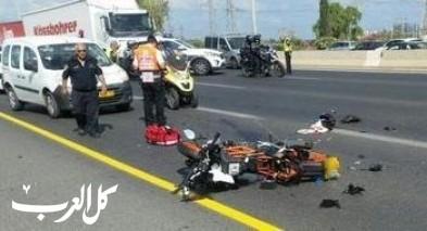 اصابة راكبي دراجة نارية بجراح خطيرة جراء انزلاقها بالنقب