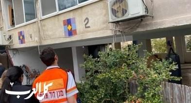 حريق داخل شقة سكنية في حيفا