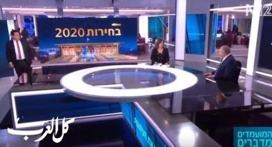 فيديو: مواجهة ساخنة بين ايمن عودة وليبرمان