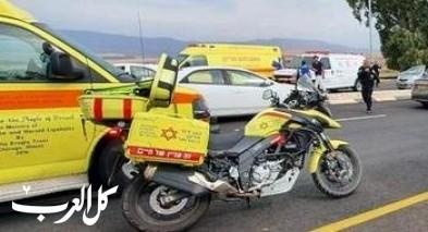 إصابة شاب بعد إنزلاق دراجته النارية قرب معليه أدوميم