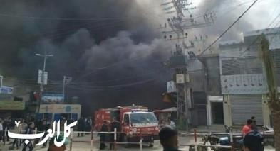 إرتفاع عدد ضحايا حريق النصيرات في غزة إلى 14ضحية