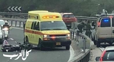 إصابة شاب بحادث قرب طمرة الزعبية
