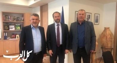 بركة وجبارين يجتمعان بسفير الاتحاد الاوروبي