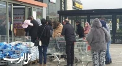 هلع كورونا: اقبال كبير على المحلات التجارية