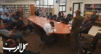 اجتماع لجنة الطوارئ في مجلس يافة الناصرة حول الكورونا