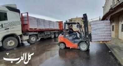 سخنين: وصول مواد غذائية ضمن حملة مركز الطوارئ القطري