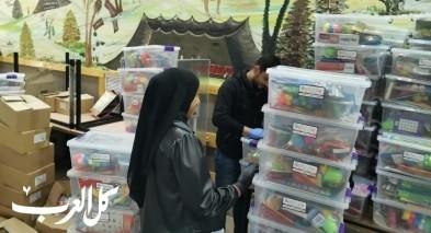 فيديو  توزيع 700 حقيبة ألعاب على الاطفال بمدينة رهط