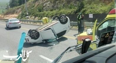 بئر المكسور: اصابة شابة جراء حادث طرق