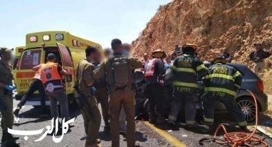 الأغوار: إصابة شابين جرّاء انقلاب سيارة