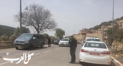 كورونا| حاجر للشرطة عند مدخل بيت جن