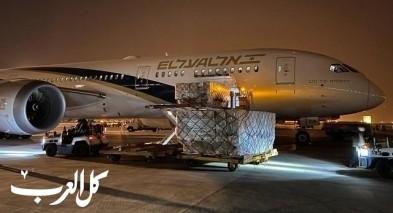 اسرائيل ترسل 11 طائرة الى الصين لنقل ملايين المعدات