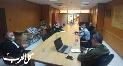 اجتماع لإدارة بلدية طمرة بقائد شرطة طمرة