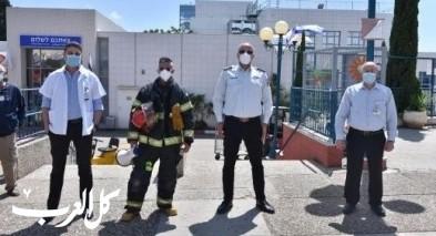 سلطة الاطفاء والانقاذ تبادر لتحية الطواقم الطبية