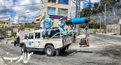 الشرطة الفلسطينية تنظم حملة تعقيم بضواحي القدس