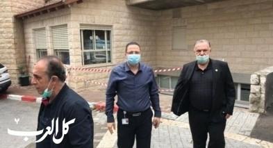 رئيس بلدية الناصرة علي سلام يكسر يده