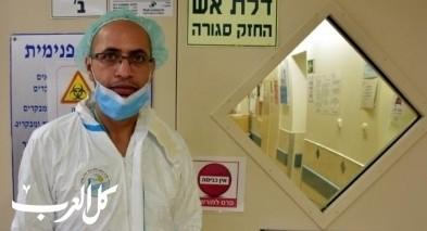 اختيار الممرض بقسم كورونا في بوريا احمد بلاونة لإيقاد شعلة - الاستقلال -