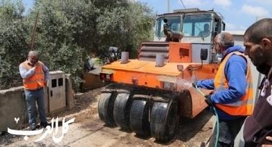 مجلس كفرقرع يكمل تعبيد الطرق الداخلية