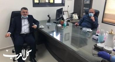 النائب جبارين في زيارة عمل لمجلس طلعة عارة