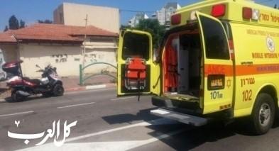 اصابة شاب من العزير جراء حادث دهس