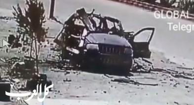 توثيق: استهداف سيارة قيادي في حزب الله