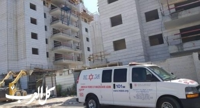 مصرع عامل صيني في حادث عمل في ورشة بناء بكريات جات