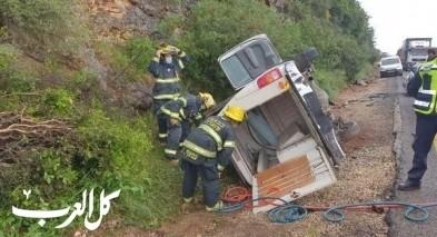 إصابة مواطن بحادث طرق قرب يركا
