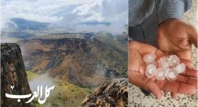في أيّار: تساقط أمطار وبرد في النقب