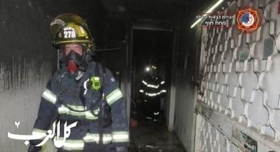 اندلاع حريق في منزل في اللقية