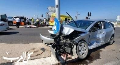 إصابتان في حادث طرق على شارع 75 عند مفرق نهلال