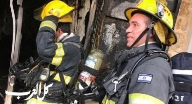 اندلاع حريق بمحل تجاري في عكا القديمة
