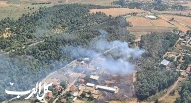 حريق هائل في أحراش شمالي القدس