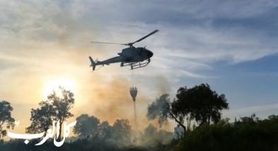 نشاط مكثف لطائرات الاطفاء التابعة لشرطة اسرائيل