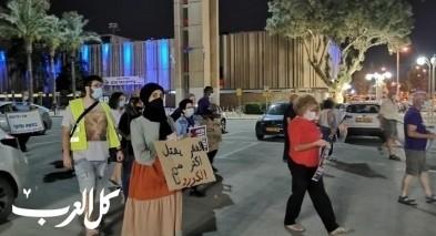 تظاهرة تجمع عمالًا ومستقلين عرب ويهود في بئر السبع