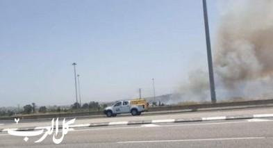 حريق قرب شارع رقم 6 - نتسني عوز