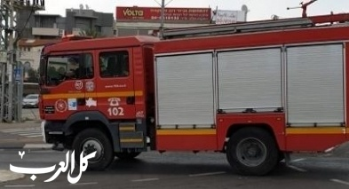 إندلاع حريق في منطقة أشواك قرب صندلة