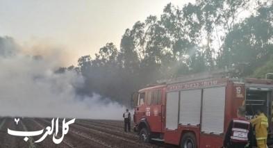 اندلاع حريق بمنطقة أشواك قرب الناعورة
