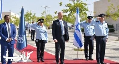 مراسيم استقبال وزير الامن الداخلي في شرطة اسرائيل