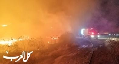 """اندلاع حريق بمنطقة مفتوحة في """"وادي الملح"""""""