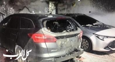 حيفا: اعتقال مشتبه بإضرام النيران بسيارتين