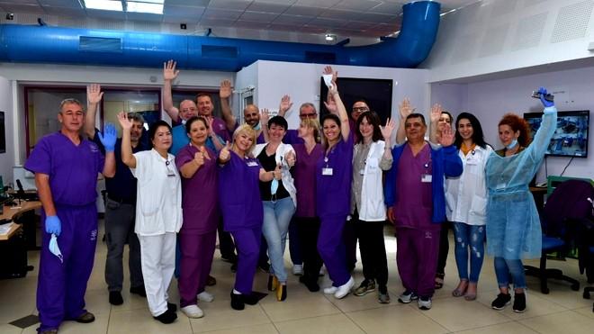 اغلاق قسم كورونا في مستشفى نهاريا
