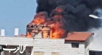 الجديدة: اشتعال النيران بمبنى سكني