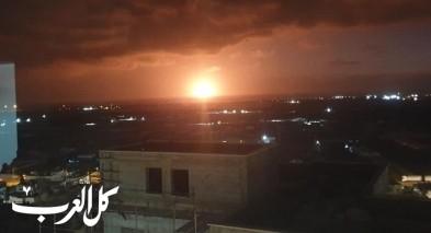 شعلة نار كبيرة تنبثق من منصة الغاز لفياتان