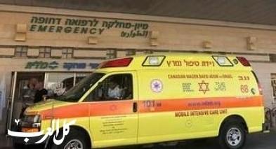 اللد: إصابتان في حادث طرق بين دراجة نارية وسيارة