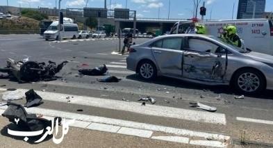 إصابة خطيرة بحادث طرق قرب رعنانا