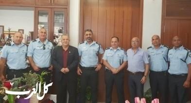 قيادة شرطة الشمال تعايد رئيس بلدية الناصرة