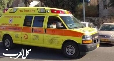 إصابة خطيرة لرجل بعد سقوطه عن إرتفاع في نهر الحصباني